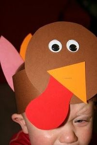 preschool thanksgiving crafts... The kid in this picture looks thrilled.