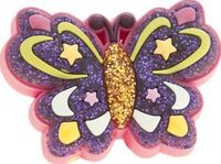 Jibbitz Multi Glitzy Star Butterfly Shoe Little girls can have fun dressing-up their summer sandals thanks to Jibbitz. The Glitzy Star Butterfly is a man-made accessory, created for popping into the perforated holes found on Crocs. This mult http://www.co...