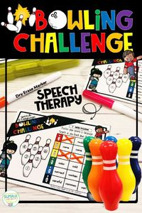 Speech & Language Bowling Challenge for articulation, language or mixed group speech therapy sessions