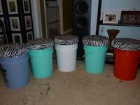 Bucket Seats for Camping. Kids can carry their own to the campsite and fill it with their choice of toys and games.