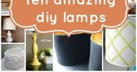 Give your lamp (and your room!) a face-lift without breaking the bank. Here are ten of Remodelaholic's favorite diy lamps and shades.