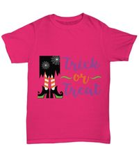Witchy trick or treat halloween light unisex t-shirt $20.95