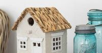 How to make English Cottage Birdhouses! These adorable little birdhouses will have you thinking you're sipping tea and nibbling on crumpets in England.