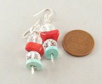 Small Women's Beaded Turquoise Earrings | Natural Gemstone Bead Jewelry $19.95