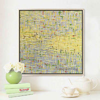 Bilder Yellow Abstract acrylic painting on canvas extra Large Wall Art Pictures for living room Home Decor Geometric cuadros abstractos $104.75