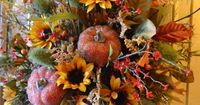 Fall Door Basket from Kristen's Creations - I have one of those baskets, I will have to do this