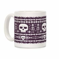�œ� Handcrafted in USA! �œ� Support American Artisans Ugly Skeleton Sweater Pattern Ceramic Coffee Mug $14.99