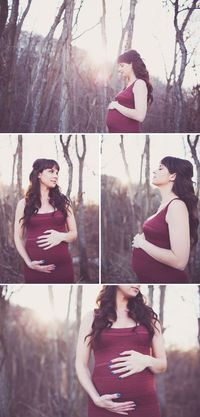 Stunning Sunset Maternity Session by the Woods