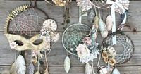 Brilliant handmade Vintage dreamcatcher collection by Miranda! What a fun project - it even has a tutorial! #graphic45 #dreamcatchers #tutorial