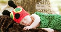 Hungry Caterpillar Cocoon and Hat set pattern on Craftsy.com