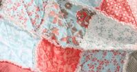 Crib Rag Quilt Baby Girl Crib Bedding Coral Tiffany Blue Gray Nursery Emily Taylor Kensington