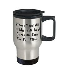 Sarcastic tone dirty rude vulgar 14 oz stainless steel travel mug gag gift| batchelor party |batchelorette party | $20.95