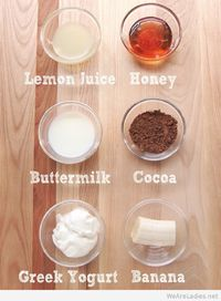 Natural mask face DIY home