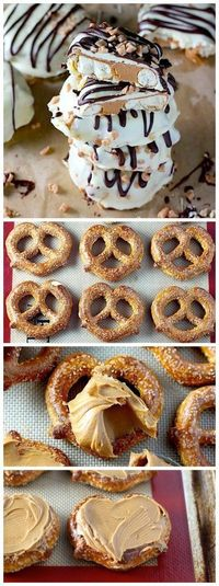 So easy and impressive! Double Chocolate Dipped Peanut Butter Stuffed Pretzels! | Nosh-up