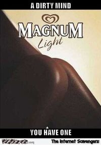 You have a dirty mind magnum humor #funny #humor #funnypictures #lol #PMSLweb