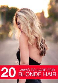 """Blondes have more fun but they require more attention �€"""" find out how to care for your blonde hair properly."""