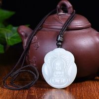 Exquisite necklace Hetian Jade Necklace Buddha necklace- valentines day gifts-women necklace