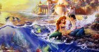 """Artwork of Ariel and Prince Eric called """"Little Mermaid"""" by Thomas Kinkade. Giclee on Canvas - $795"""