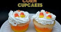 Candy Corn Cupcakes - similar to rainbow cupcakes, perfect for trick-or-treat time. Would make cute minis, too