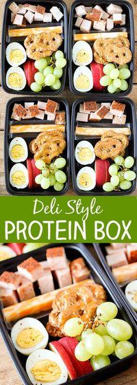 This post is brought to you in partnership with Jennie-O. Protein Boxes are one of my favorite on-the-go lunches. When Jennie-O sent these Premium Portions Oven