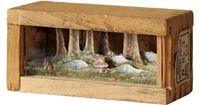 Artist Allison May Kiphuth captures scenes inspired by her surroundings in Maine and along the New Hampshire sea coast by squeezing them into small wooden boxes scarcely a few inches wide. Her mixed media dioramas are constructed from layered ink and wate...