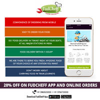 FudCheff is one of the best food app in train journey or airplane. FudCheff provide food delivery services across 300+ railway junctions and 6000+ trains and all major airports in India.