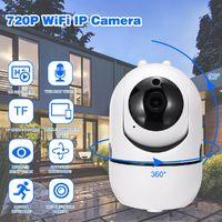 720P IP Camera Wifi Dual Antenna P2P Audio Outdoor IR Night Vision Home Security - AU plug