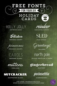 Collection of Free Fonts for your Holiday Cards, Wedding Invitations and DIY Projects.