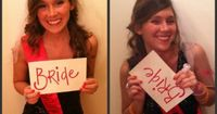 Bachelorette party. Take a picture of everyone at the beginning of the night and one at the end.