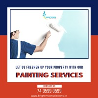 Let us Freshen up your property with our Painting Services.  For all Housekeeping Related Services Book us today!  For further details please feel free to contact us at: 7405990599  Or visit us at www.brighvisionsolutions.in  #housekeeping #pain...