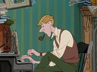 Roger from One Hundred and One Dalmatians is just so stylish and talented. Sigh.