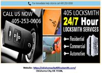 We at 405 Locksmith Oklahoma City, ensure that all our clients can get an excellent emergency locksmith in Oklahoma City OK around-the-clock on all occasions and at any time of the entire day. Call (405) 253-0006 Click on link for more informati...