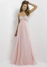 Pink Long Open Back Strapless Shiny Rhienstone Top Prom Dress