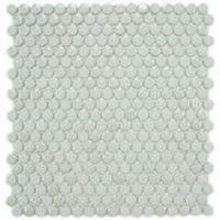 """Found it at Wayfair - EliteTile Posh 11-3/4"""" x 12"""" Penny Round Porcelain Mosaic Wall Tile in Mint"""