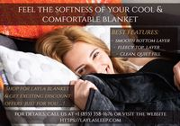 Layla offers you the cool and comfortable blanket that is soft, easily washable and 100% cotton based. The blanket has been made with two different layers that help to increase your sleep time according to body temperature. For more details, call us a...