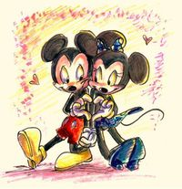 Adorable Mickey and Minnie piece