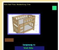 bunk bed plans woodworking free