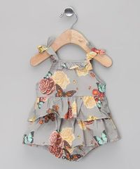 Take a look at this Gray Pansy Ruffle Organic Bubble Bodysuit - Infant by Oh Baby London on #zulily today!