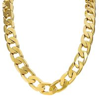 The Bling King 18K Gold or Silver Plated 13mm Cuban Chain Necklace / Bracelet £8.99