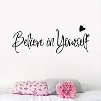 Believe In Yourself Wall Sticker Decor Living Room Decals wall stickers home decor living room quotes $3.40
