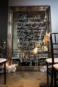 Whether your wedding style leans more vintage, modern, or classic, the creative use of a mirror can elevate your décor. Here, check out some of our favorite ide