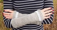 Knit a pair of wrist warmers from one ball of Rico Merino Aran yarn