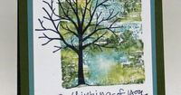I am trying my hardest to convince you that you need Sheltering Tree stamp set. Lol. Yes, I have another card today. I found a card on Pinterest that I love and