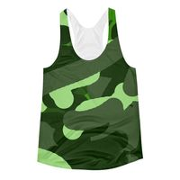 """Exclusively from And Above All YOGA --- """"Camouflage"""" Women's Racerback Tank Top for just $29.95 with FREE SHIPPING"""