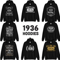 1936 Birthday Gift, Vintage Born in 1936 Hooded Sweatshirt for men women, 84th Birthday Hoodies for her him, Made in 1936 Hoodie 84 Year Old $23.99