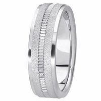 14K White Gold 6 millimeters wide Wedding anniversary Band gift for him $588.00