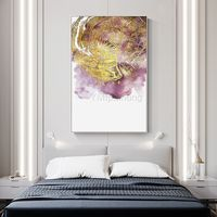 Gold leaf framed wall art Modern art Abstract paintings on canvas purple art acrylic ymipainting wall pictures cuadros abstractos $123.75