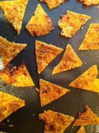 no carb doritos - 1 large zucchini, shredded, 2 eggs, 2 cups cheese - mix - bake 12 min at 450 degrees - flip - bake 5 min - cool in oven for 6-8 hrs (or 16 oz cauliflower, 3 c cheese, 3 eggs)