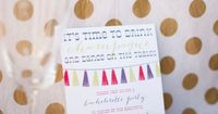 Colorful Girls Night Out Bachelorette by gracefullymadedesign