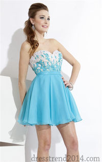 Beaded Short Fitted Strapless Sweetheart Prom Dress